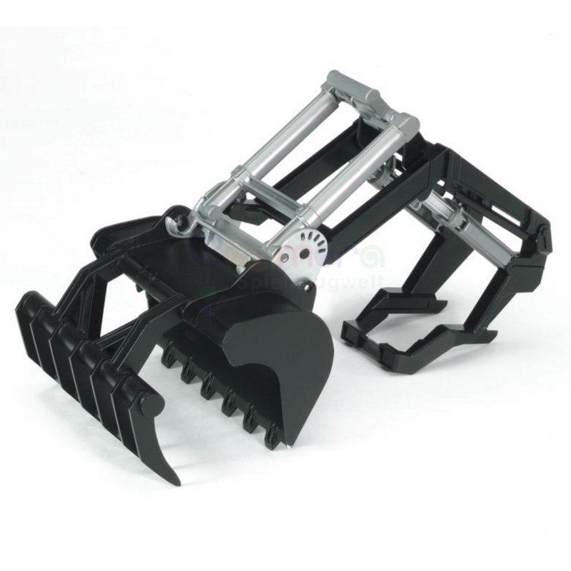 bruder 02317 frontlader f r die traktor serie 02000. Black Bedroom Furniture Sets. Home Design Ideas