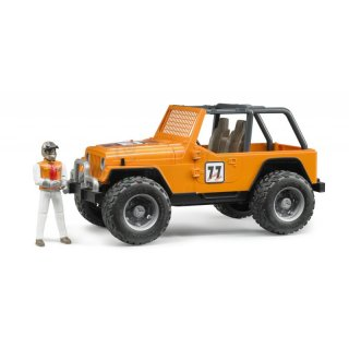 Bruder 02542 Jeep Cross Country Racer orange mit Rennfahrer