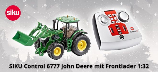 SIKU Control 6777 John Deere mit Frontlader 1